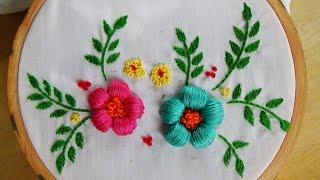 Hand Embroidery: Puffed Satin Stitch