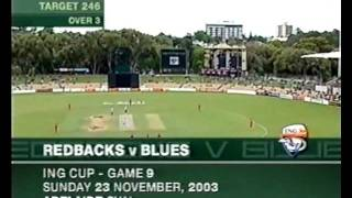 SHAUN TAIT vs STEVE WAUGH & NSW, FASTEST OVER, HOSTILE SPELL 2003