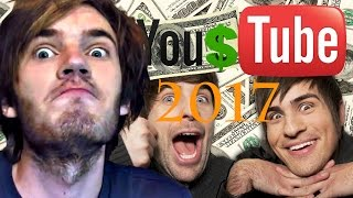 Top 10 Richest Youtubers 2017