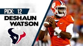HOUSTON TEXANS SELECT DESHAUN WATSON 12TH OVERALL | 2017 NFL DRAFT