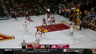 First Half Highlights: Indiana at Minnesota | Big Ten Basketball