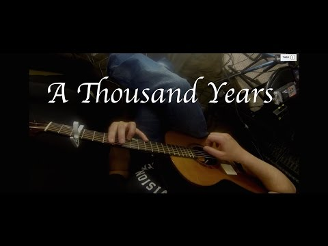 Christina Perri A Thousand Years Fingerstyle Guitar