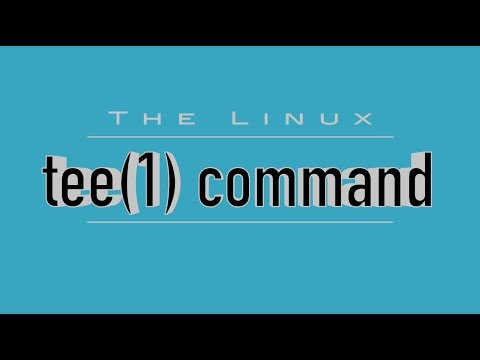 Linux Command: 'tee' - Watch & Log Command Output
