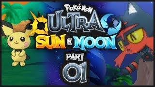 Pokemon Ultra Sun & Moon w/ @PKSparkxx - Part 1   IT'S SHINY!? (Might be clickbait)