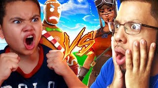 1v1 10 YEAR OLD BROTHER VS PRO PLAYER (CHRIS) MOST INTENSE FIGHT EVER!! FORTNITE BATTLE ROYALE! OMG