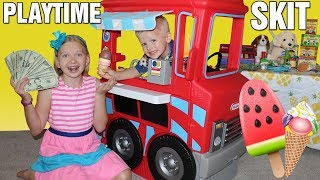 We Opened an Ice Cream Shop! Earning Real Money!