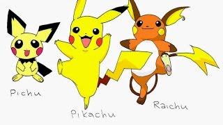 Evolusi Pikachu Menjadi Raichu (Pikachu Evolve)