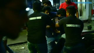 Private security personnel attacks a fan who tried to meet Sachin in Kochi