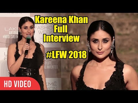 Kareena Kapoor Full Interview | Lakme Fashion Week 2018 Grand Finale | #LFW2018 Finale