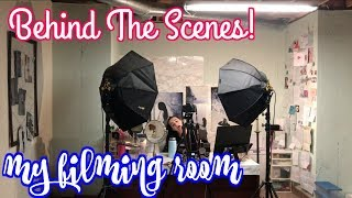 BEHIND THE SCENES - MY FILMING ROOM! | Jordan Byers Vlogs
