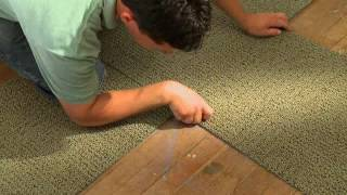 How to install carpet tiles on concrete floor