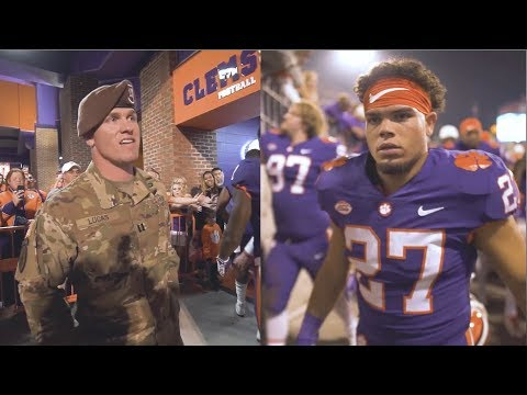 Xxx Mp4 Clemson Football Father Returns From Afghanistan To Surprise Son Before A Game 3gp Sex