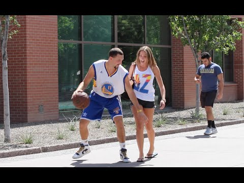 Klay Thompson Plays Basketball with Strangers!!