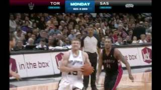 Matt Bonner Dunks over the Raptors