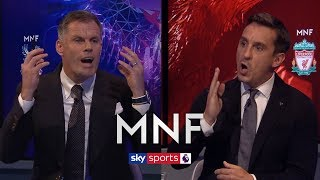 Jamie Carragher and Gary Neville have HEATED debate over Unai Emery