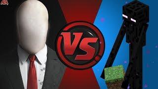 Slender Man vs Enderman (Minecraft)! Cartoon Fight Night Episode 10!