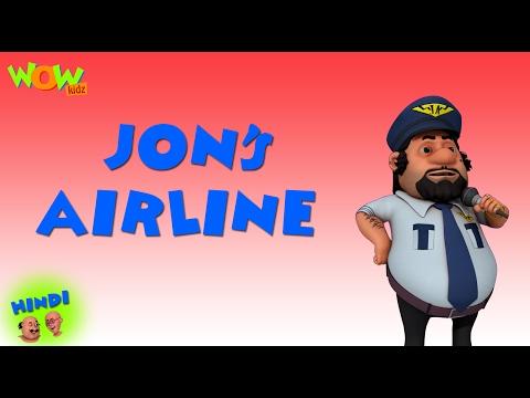 John s Air Line Motu Patlu in Hindi 3D Animation Cartoon for Kids As seen on Nickelodeon