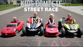 POWER WHEELS STREET RACE | Kids Compete!