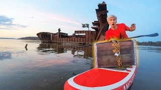 LOST TREASURE FOUND TRAPPED INSIDE HAUNTED ABANDONED GHOST SHIP!!