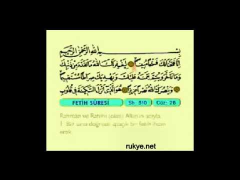 Rukye 25 101 adet Fetih sures 1. ayeti - İNNA FETAHNA LEKE FETHAN MÜBİNA