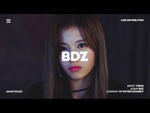 TWICE (트와이스) - BDZ   Line Distribution