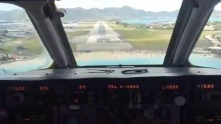 Aterrizaje en San Martin  MD-80