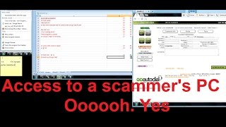 Accessing a scammer