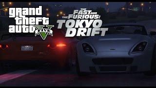 GTA V FnF Tokyo Drift Donut Drift Scene Remake [Rockstar Editor]