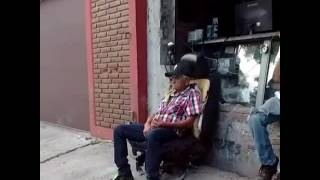 Hilarious man flying off chair !!