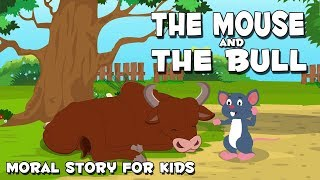 English Stories For Kids | The Mouse And The Bull | Animal Stories For Children By Aanon Animation