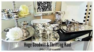 Huge Goodwill + Thrifting Haul | Silver & Serveware