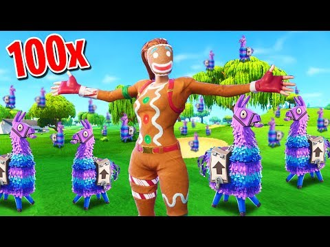 Can You FIND ALL 100 LLAMA S In Fortnite Battle Royale
