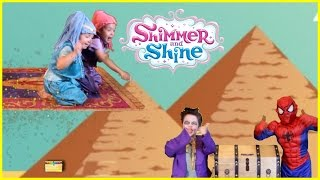 SHIMMER AND SHINE In Real Life Adventures, Genie Surprise Toys, Kids Games Videos