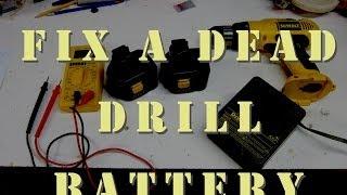 Restore-Revive-Zap Old Dead Drill Battery - Free