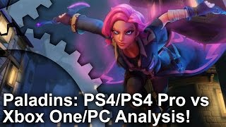 [4K] Paladins PS4/ PS4 Pro vs Xbox One vs PC - Graphics Comparison + Frame-Rate Test