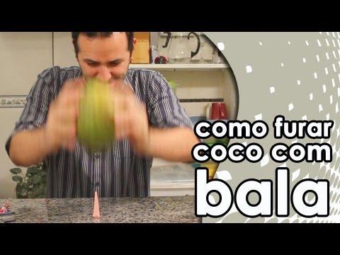 Como furar um coco com uma bala 7 Belo experiência