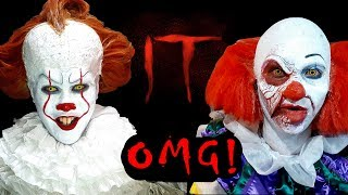Old and New Pennywise (Cosplay) invades cinemas! -
