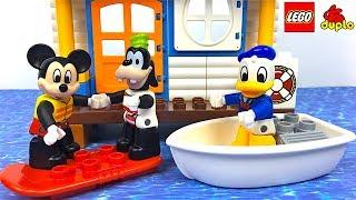 MICKEY Y SUS AMIGOS LEGO DUPLO CASA DE LA PLAYA CON DONALD Y GOOFY - MICKEY AND FRIENDS BEACH HOUSE