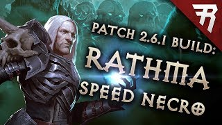 Diablo 3 Season 15 Necromancer Rathma Speed build guide (and bounties) (Patch 2.6.1)
