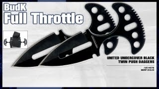 United Undercover Black Twin Push Daggers - $9.99