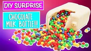 DIY Surprise JUMBO Chocolate Milk Bottle!!!