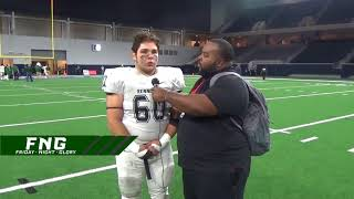 Kennedale Offensive Tackle Cameron Hannah 12 2 2017