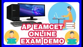 AP EAMCET ONLINE EXAM DEMO VIDEO ONLINE MOCK TEST how to write eamcet online exam