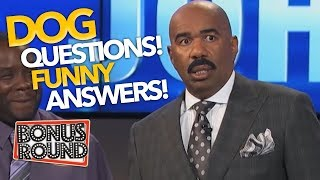 STEVE HARVEY ASKS...'NAME SOMETHING YOUR DOG' Funny Answers From Family Feud US contestants!
