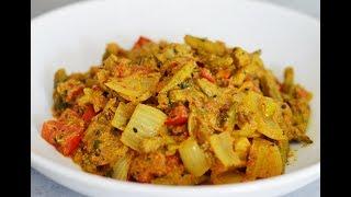 طرز تهیه بامیه دو پیازه یک غذای خوشمزه هندی | Best Okra Do Pyaza  - Eng Subs