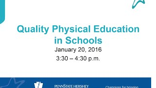 Quality Physical Education (PE) in Schools