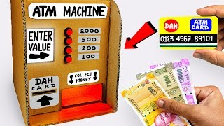 How to make an ATM Machine out of Cardboard DIY AT HOME for KIDS / DAH