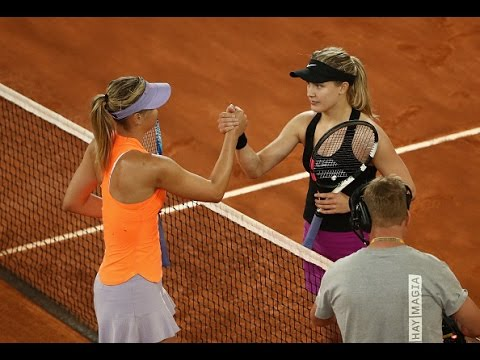 2017 Mutua Madrid Open Second Round | Genie Bouchard vs Maria Sharapova | WTA Highlights