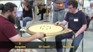 Crokinole 2017 World Championship Top 4 - Reinman v Jongsma