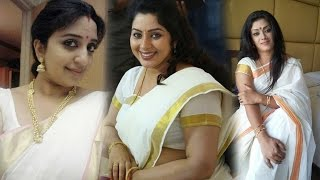 Hot Malayalam Actress Onam Special Saree Traditional Looks || Celeb Zone